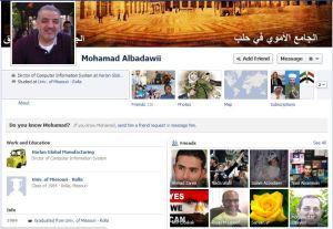 Mohammad Albadawi facebook screencapture