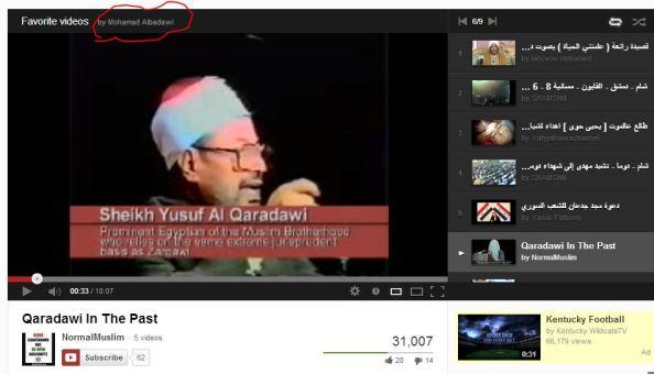 Mohammad Albadawi favorites Qaradawi in KC