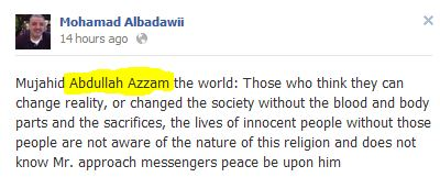 Mohammad Albadawi quote screen capture