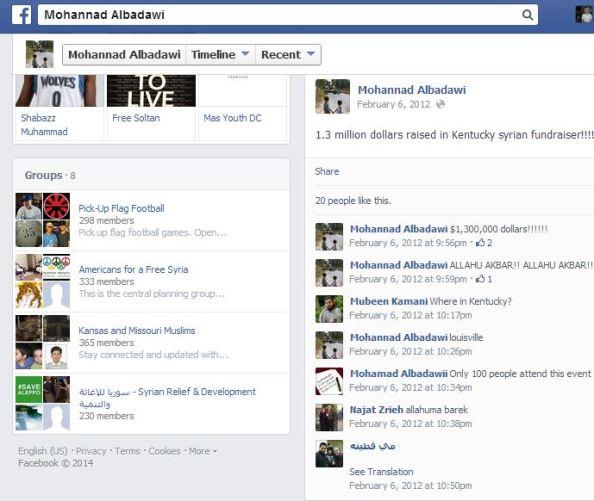 Mohannad Albadawi 1 point 3 milllion raised in Kentucky Allah u akbar 2