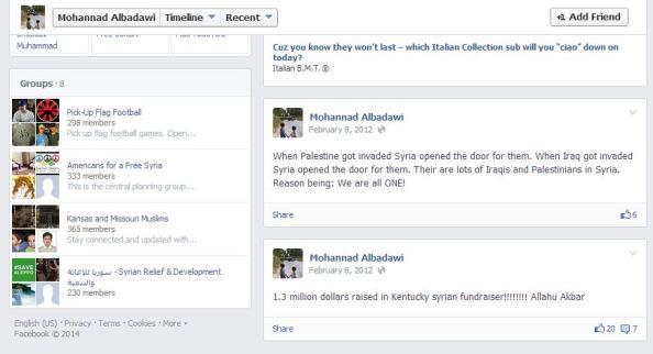 Mohannad Albadawi 1 point 3 milllion raised in Kentucky Allah u akbar