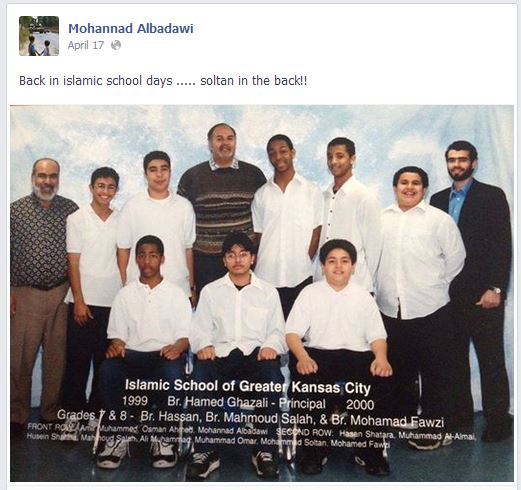 Mohammed Soltan is seen on the right in the back row with a big smile. Mohannad Albadawi is seated in front of him. Mohannad as noted earlier in the story is the son of Mohamad Albadawi.
