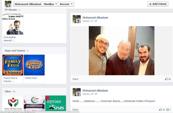 Mohannad Albadawi posts pic of Soltan father son with qaradawi