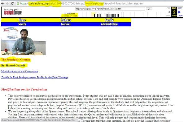 H Ghazali post ISGKC net 1999 post 1