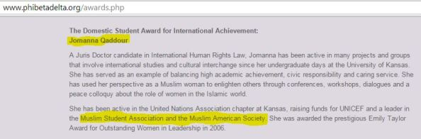 Jihad - Jomana Qaddour 2006 MSA and MAS leader