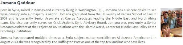 Jomana Qaddour profile from Syria Relief and Development