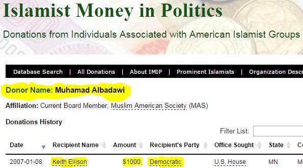 M Albadawi donates 1000 to Keith Ellison