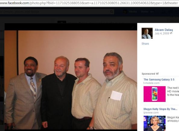Mohamed Albadawi with George Galloway