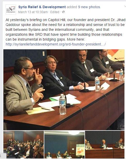 Jihad Qaddour at SRD event at US Capitol 2