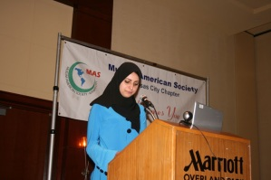 Jomana Qaddour at the Overland Park, KS Marriot with George Galloway and Mahdi Bray - Both are HAMAS supporters