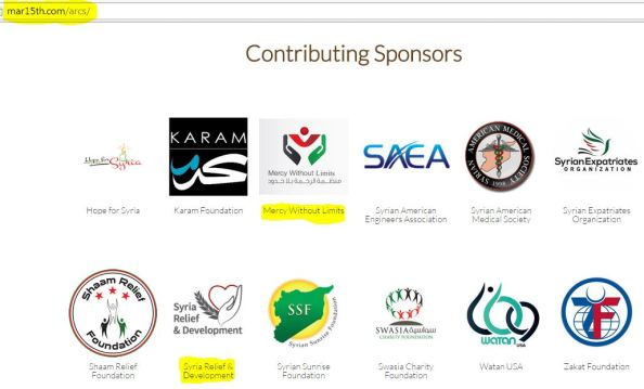 M Albadawi and Jomana Qaddour sponsoring the same event March 15 Syrian Revolution 1