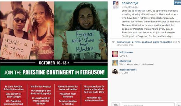 UMKC MSA  Sara Jawhari ferguson Palestine Contingent