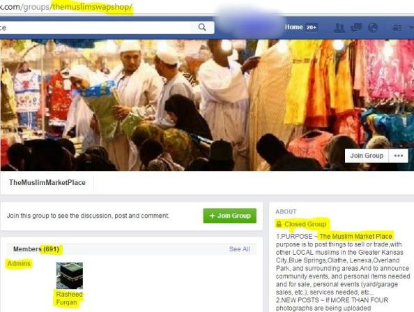 Rasheed Furqan administrator for Muslim MarketplaceKC