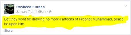 Rasheed Furqan response to Charlie Hebdo