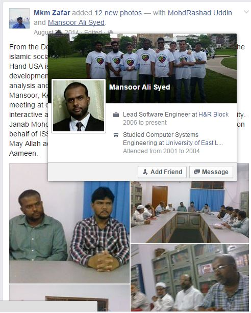 ICNA KC Mansoor Ali Syed in India with HELPING HANDS USA 3