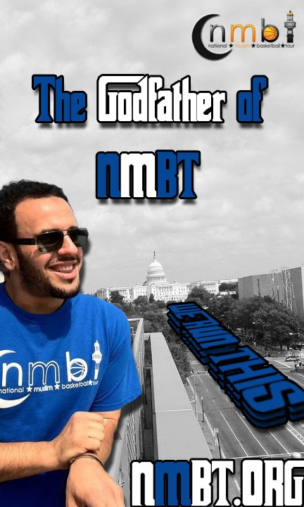 Mohamed El-Housiny also headed up the NMBT National Muslim Basketball Tour based in Kansas City. The T-Shirt seen in the above picture was posted online as a promotional pic for NMBT. The words
