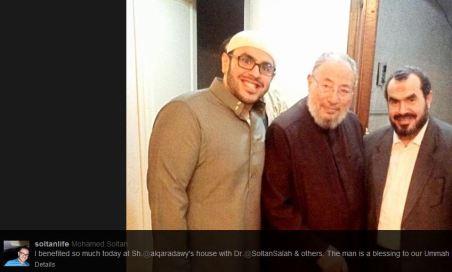 Mohammed Soltan meetign Qaradawy 3